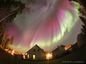 Crazy Aurora in backyard blogg