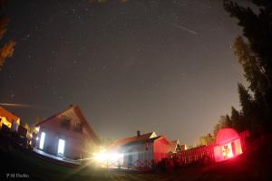 Perseid meteor above Carpe NOctem Observatory